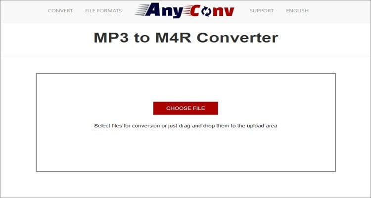 MP3 to M4R Online Converter - AnyConv