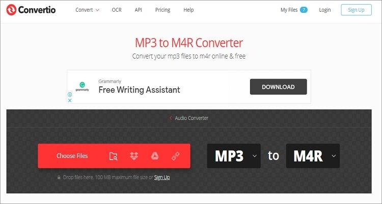 MP3 to M4R Online Converter - Convertio