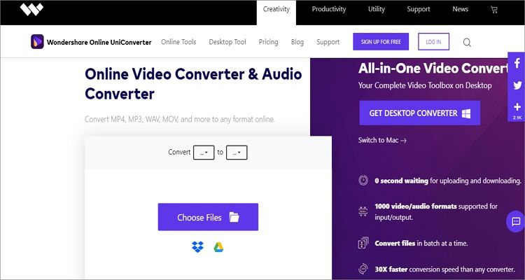 Convert Any Videos and Audios to M4R Online Free - Online UniConverter
