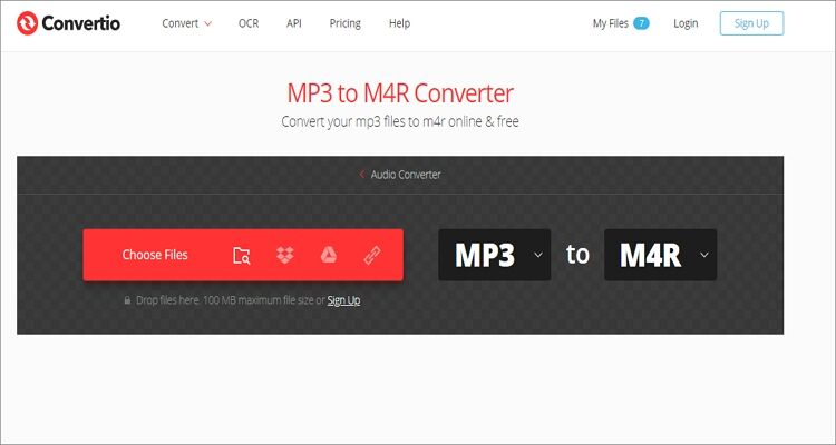 Convert Any Videos and Audios to M4R Online Free - Convertio