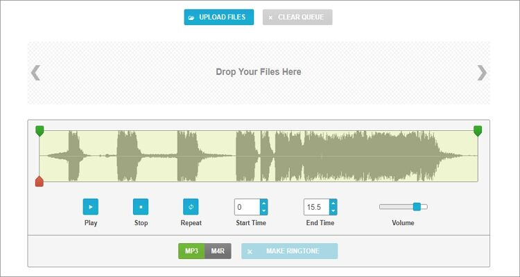 Convert Any Videos and Audios to M4R Online Free - Ringtonemaker