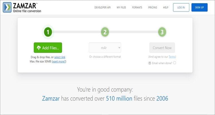 Ringtone Online Converter - Zamzar