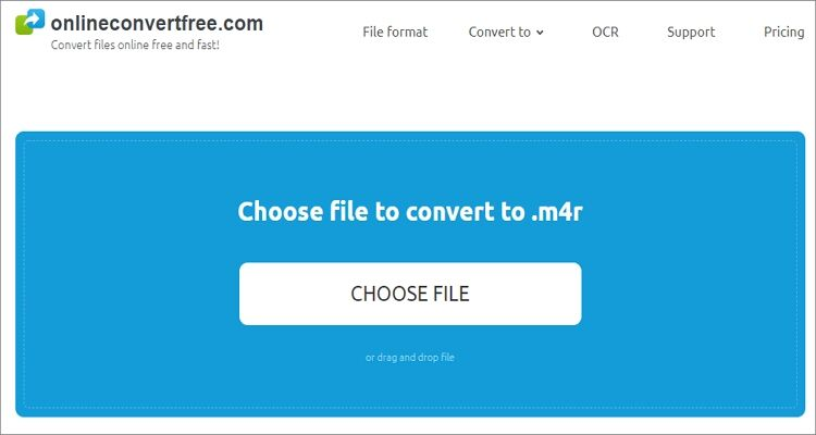 Convert YouTube videos to M4R Online Free - Onlineconvertfree