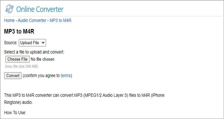 Online M4R Converter - Online Converter