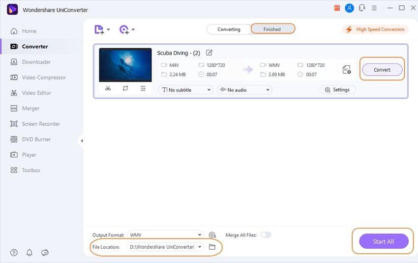 convert M4V to Windows media player
