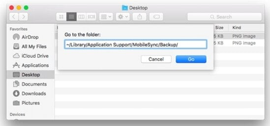 removing old iOS backup