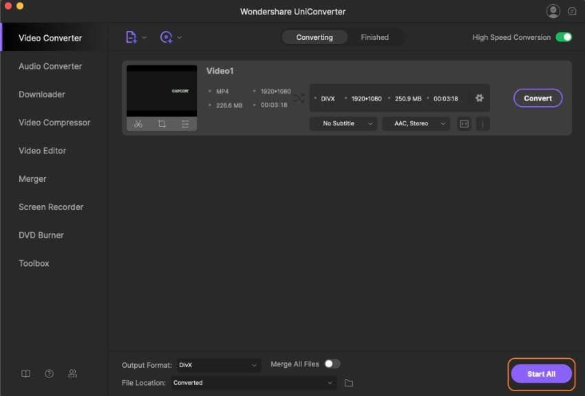 Convert MP4 to DivX Mac