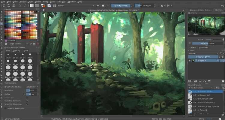 online drawing software for Mac - Krita