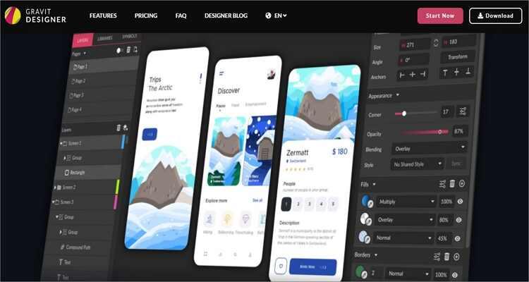online drawing software for Mac - Gravit Designer