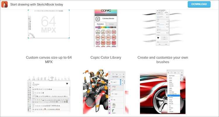 Online-Zeichenprogramm für Mac - Autodesk Sketchbook