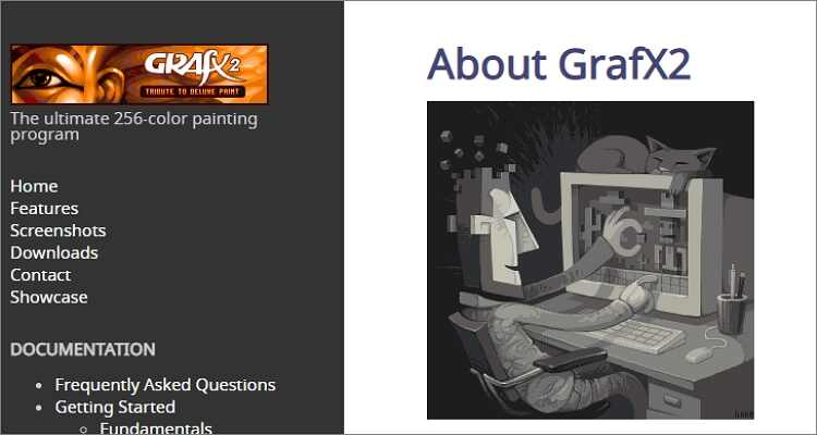 online drawing software for Mac - GrafX2