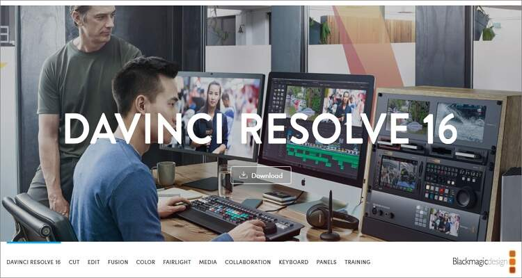 Free Video Editing Software for Mac - Davinci Resolve 16