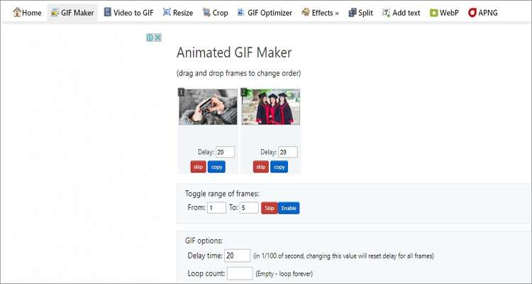 GIF Maker for Mac - Ezgif