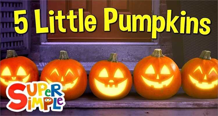 Halloween songs for kids- Five Little Pumpkins Sitting On a Gate