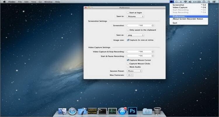Ein Webinar auf einem Mac aufnehmen - Screen Recorder Robot Lite
