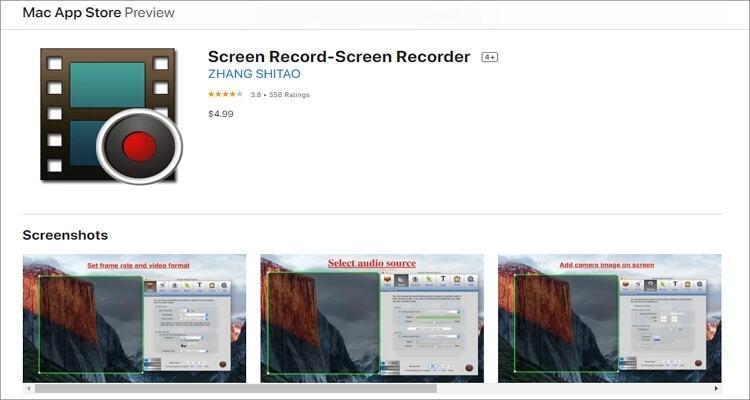 Ein Webinar auf einem Mac aufnehmen - Screen Record – Screen Recorder