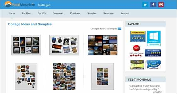 online make a photo collage on Mac - CollageIt