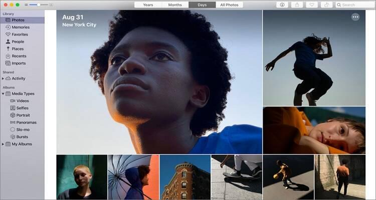 Online Bild Editor Tool für Mac - Photos