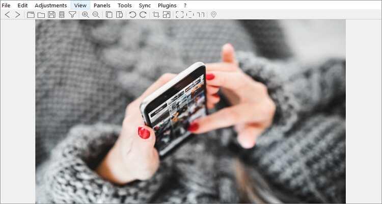 reduce the image size online - Nomacs