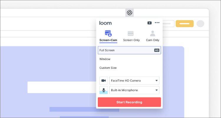 Bildschirmaufnahmeprogramm Mac - Loom