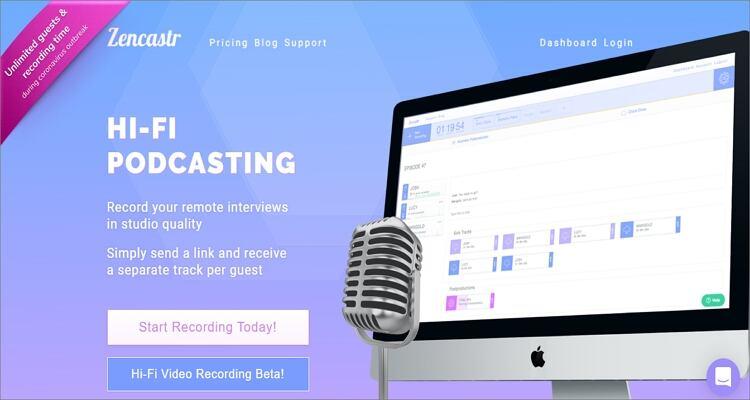 Record Podcast on Mac - Zencastr