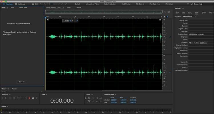 Podcast auf Mac aufnehmen - Adobe Audition