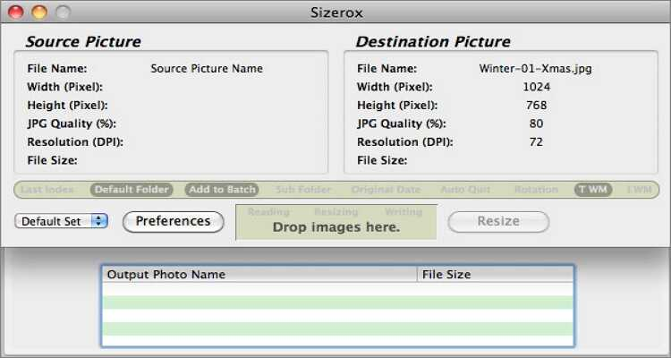 reduce the image size online - Sizerox