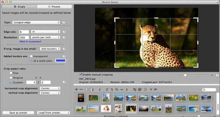 reduce the image size online - Resize Sense