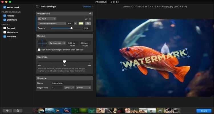 reduce the image size online - PhotoBulk