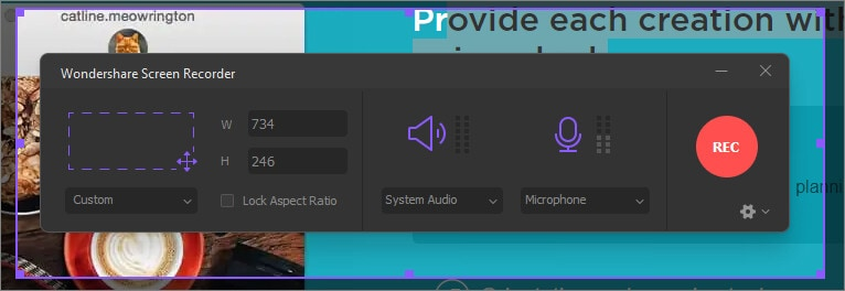 adjust recording setting