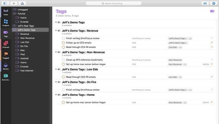 Top app on Mac - OmniFocus3