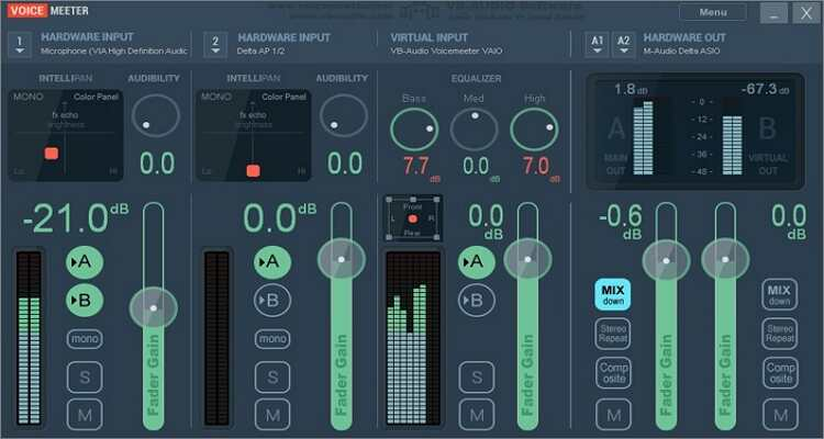 voice changer for Mac - Voice Meeter