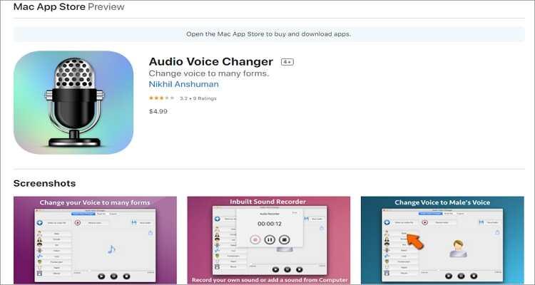 voice changer for Mac - Audio Voice Changer