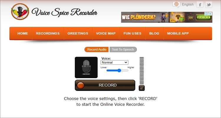Stimmverzerrer für Mac - Voice Spice Recorder