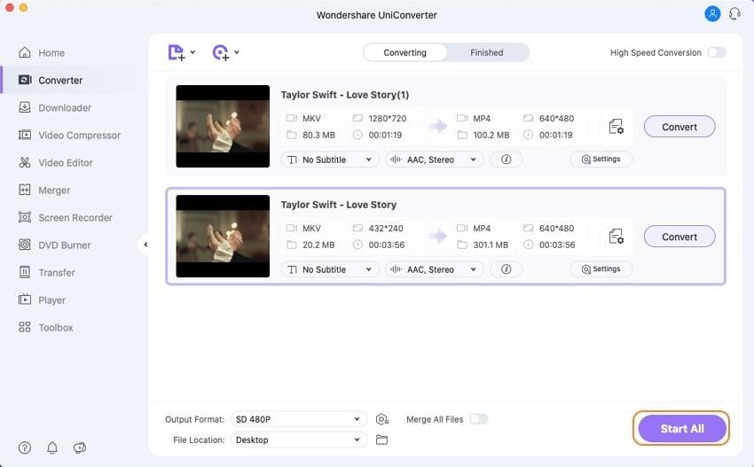 convert MKV to YouTube