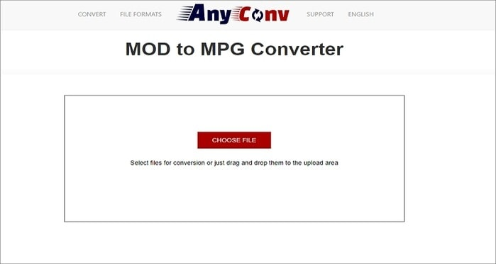 convert MOD to MPG online - AnyConv