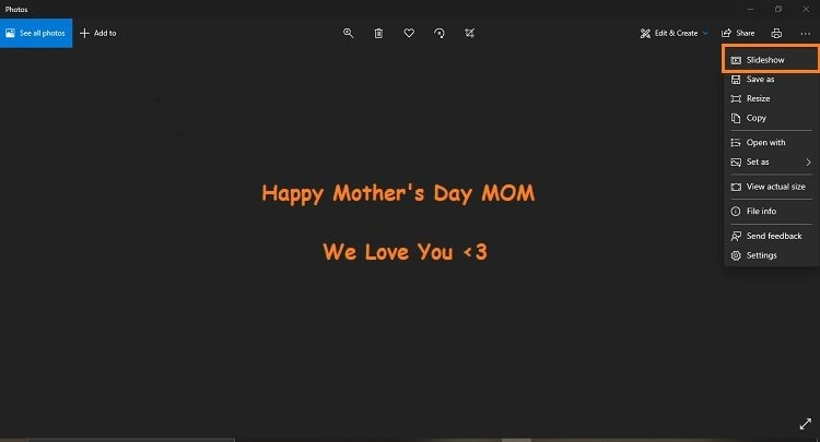 Create a Photo Slideshow with Music for Mom