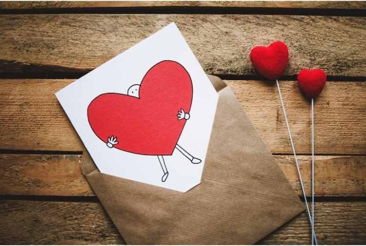 Hand Holding Heart Card