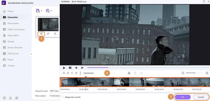 cortar vídeos MOV