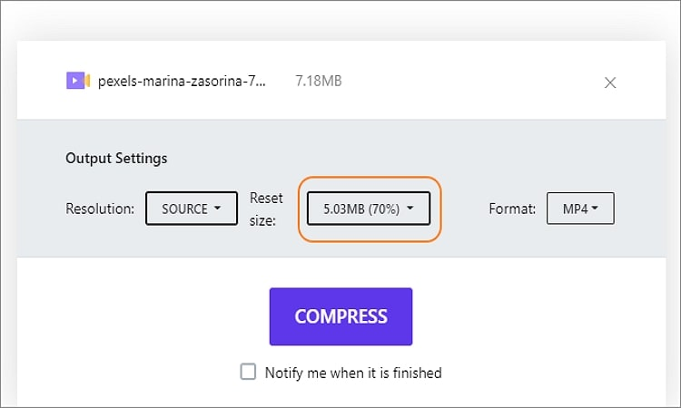 compress movie file