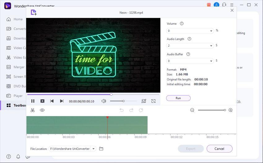 uniconverter smart trim movie maker