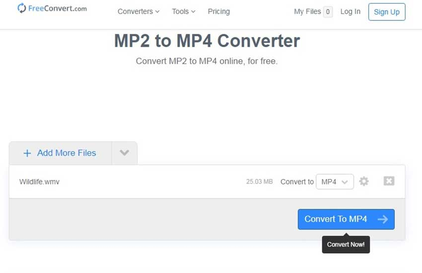 convert MP2 to MP4