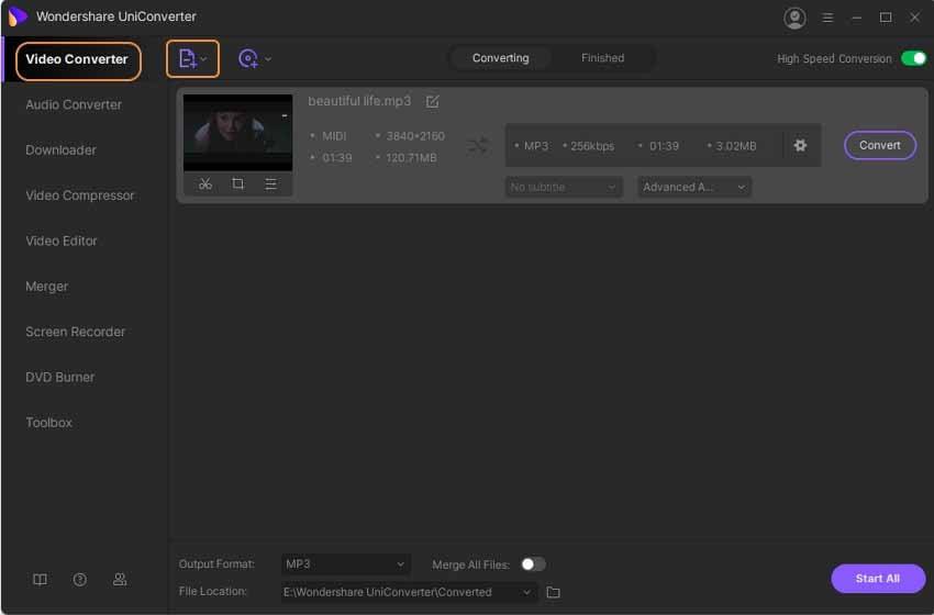 add midi video for converting