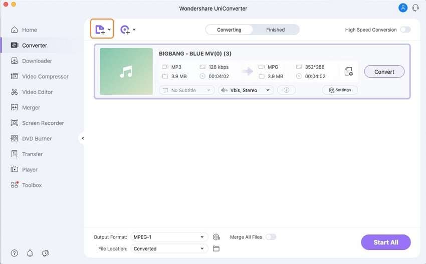 add mp3 to video converter tool