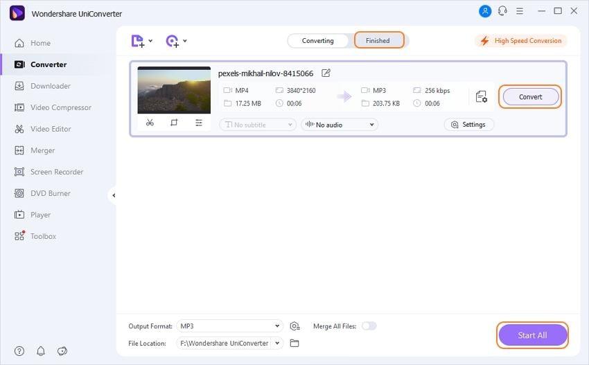 Converta vídeos para MP3