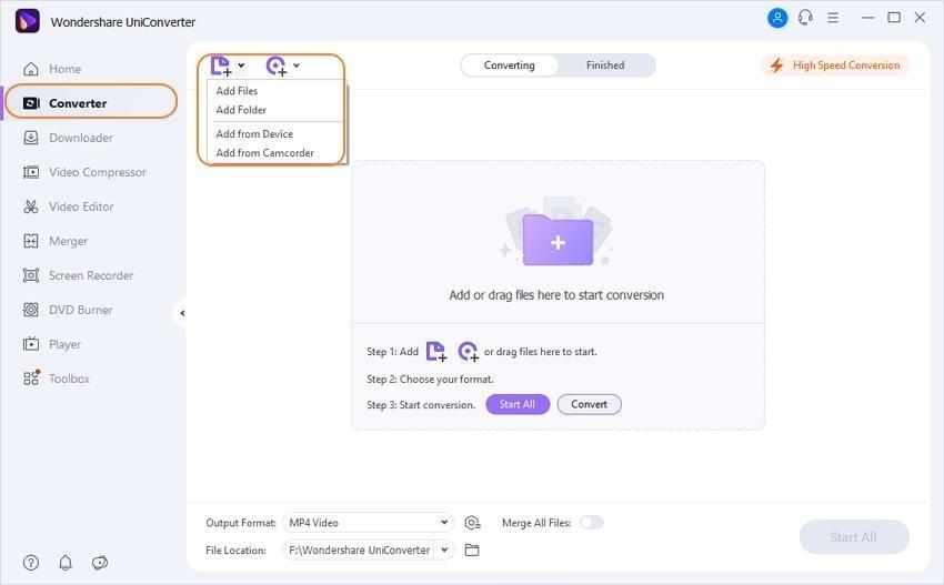 adicionar arquivos wma