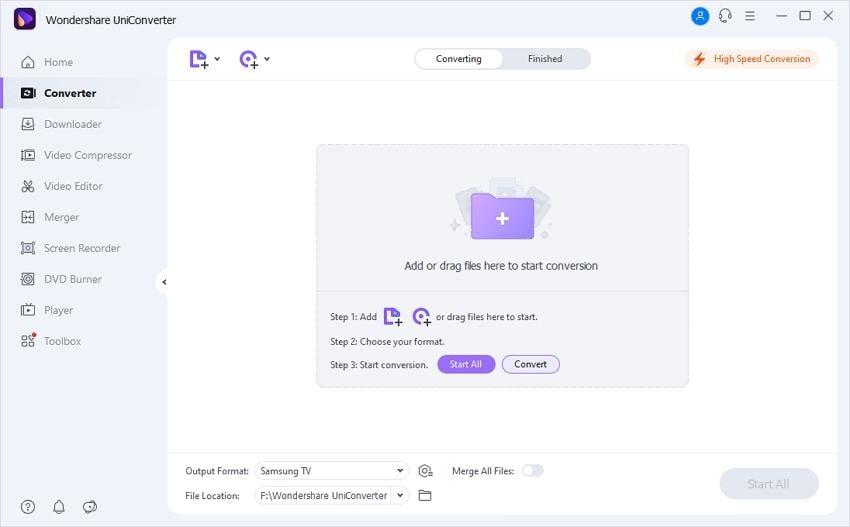 open wondershare uniconverter to convert Audacity to MP3