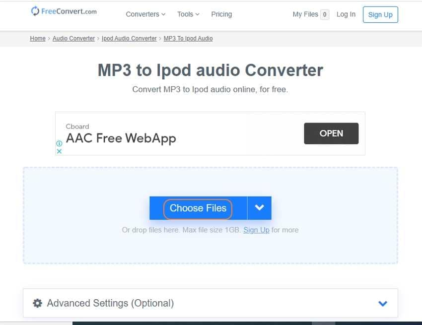iPod Audio Converter - FreeConvert