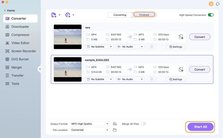convert video to mp3 and vice versa