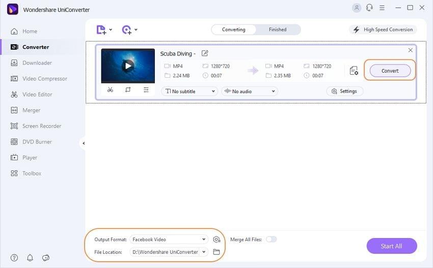 mp4 zu facebook auf Mac/PC konvertieren